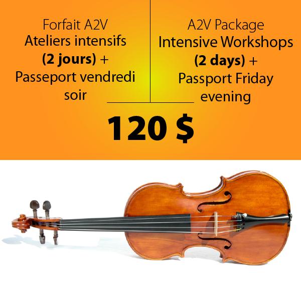 Ateliers 2 jours et passeport vendredi soir-A2V